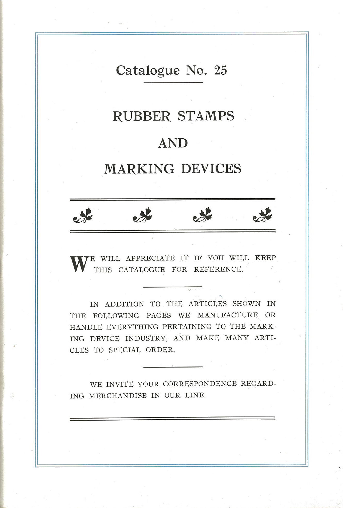 Rubber Stamps and Marking Devices Catalogue